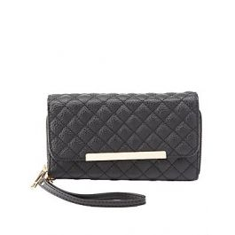 Charlotte Russe - Quilted Double Zipper Wristlet Wallet