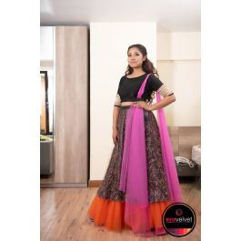 Multi Color Lehenga Set with Shawl